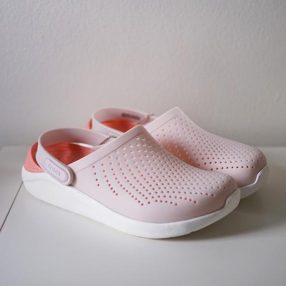 Crocs Literide Clog Light Pink White